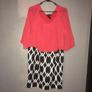 Enfocus Women Orange Red Dress
